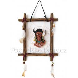 Indián obraz 4 obrázek na stěnu / Dřevo 19x23cm