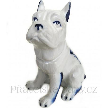 Pes - Pejsek 1 krásná soška / Porcelán