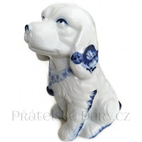 Pes - Pejsek 2 krásná soška / Porcelán