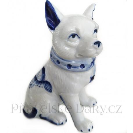 Pes - Pejsek 3 krásná soška / Porcelán