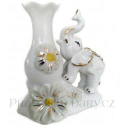 Slon - váza krásná soška / Porcelán 11cm