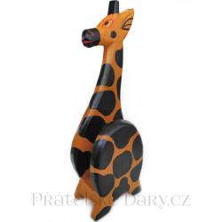 Žirafa - originální stojan na Mobil / dřevo 21cm