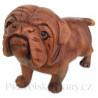 Pes - Pejsek originální soška / Dřevo 20x20cm