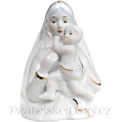 Panna Marie Madona a Dítě / Porcelán 18cm