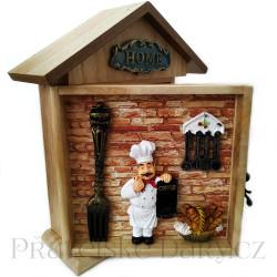 Skříňka na Klíče / Kuchař 25cm