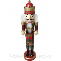 Louskáček soška Král Buben / Dřevo 37,5cm