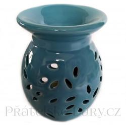 Aromalampa Váza květ modrá / Keramika