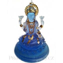 Orient Bohyně Lotos soška modrá zlatá